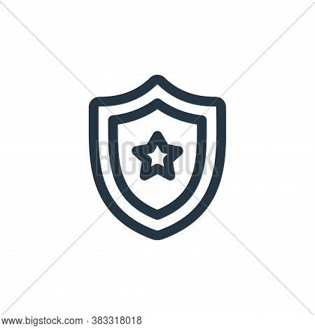 shield icon isolated on white background from voting elections collection. shield icon trendy and mo