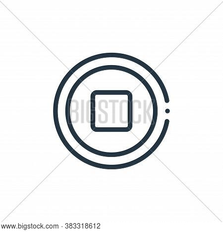 stop icon isolated on white background from music collection. stop icon trendy and modern stop symbo