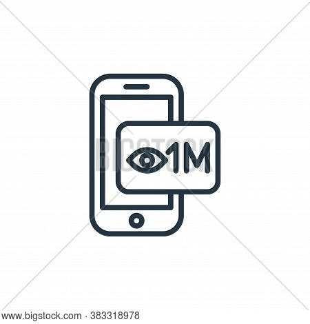 subscribe icon isolated on white background from social media collection. subscribe icon trendy and