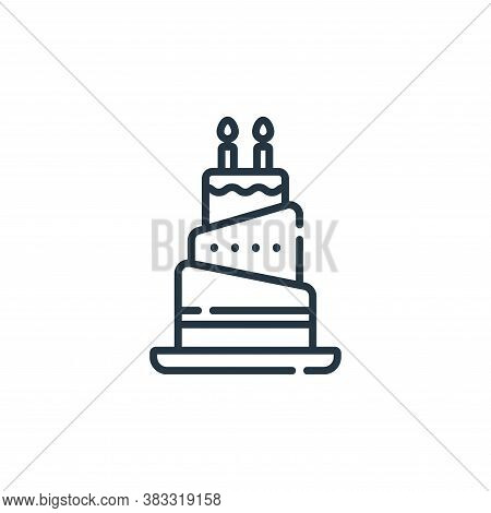 birthday cake icon isolated on white background from event collection. birthday cake icon trendy and