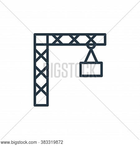 crane icon isolated on white background from labor day collection. crane icon trendy and modern cran