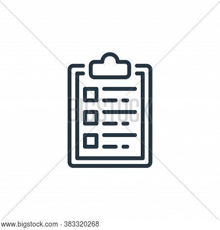 clipboard icon isolated on white background from business collection. clipboard icon trendy and mode