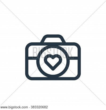 photography icon isolated on white background from valentines day collection. photography icon trend