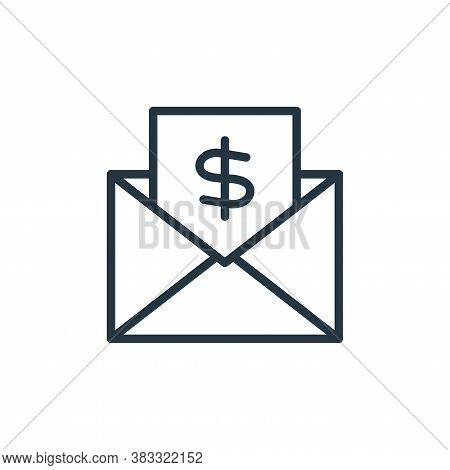 email icon isolated on white background from busines and finace collection. email icon trendy and mo