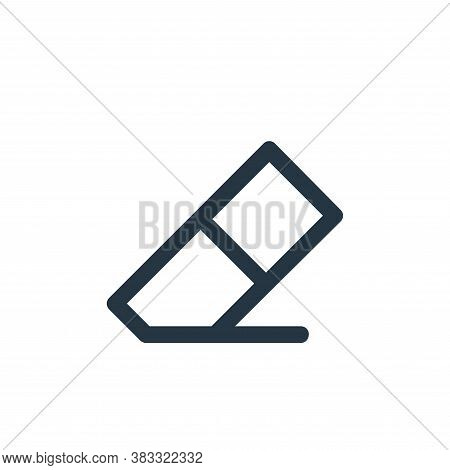 eraser icon isolated on white background from business and management collection. eraser icon trendy