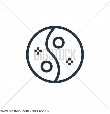 yin yang icon isolated on white background from beauty salon collection. yin yang icon trendy and mo