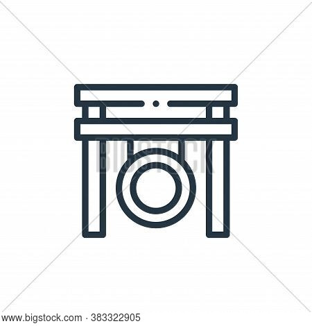 gong icon isolated on white background from music collection. gong icon trendy and modern gong symbo