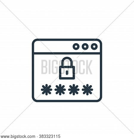 password icon isolated on white background from social media collection. password icon trendy and mo