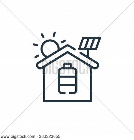 solar system icon isolated on white background from smarthome collection. solar system icon trendy a