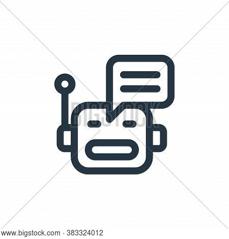 chatbot icon isolated on white background from customer service collection. chatbot icon trendy and