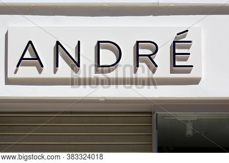 Villefranche, France - May 17, 2020: Andre is a French shoe company and distribution company based in Paris