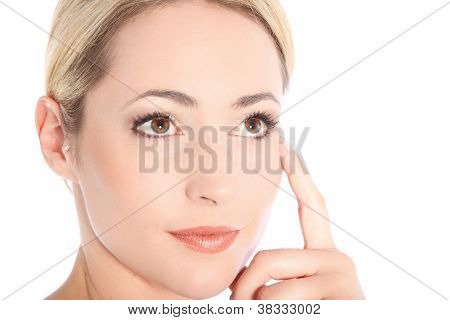 Portrait Of Thinking Young Blonde Woman