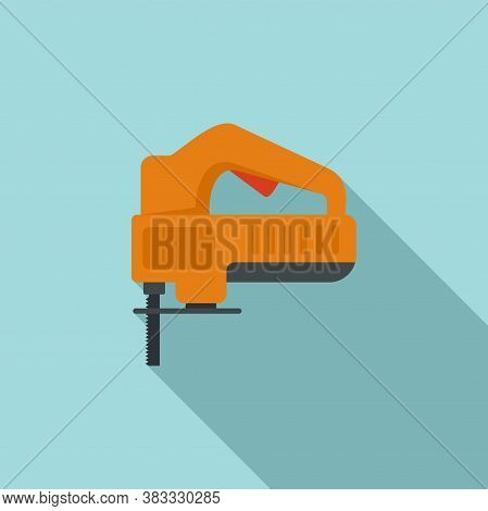 Electric Jigsaw Icon. Flat Illustration Of Electric Jigsaw Vector Icon For Web Design