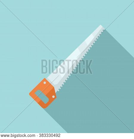 Garden Hand Saw Icon. Flat Illustration Of Garden Hand Saw Vector Icon For Web Design