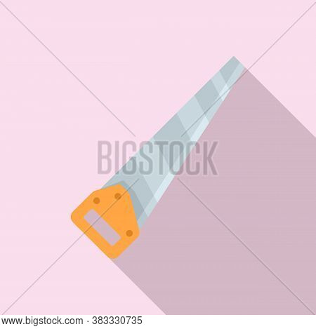 Carpentry Hand Saw Icon. Flat Illustration Of Carpentry Hand Saw Vector Icon For Web Design