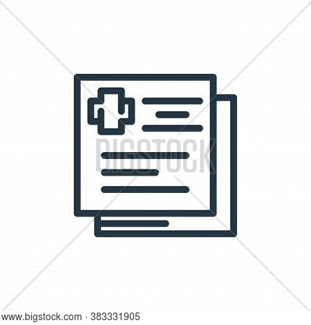 medical report icon isolated on white background from medical collection. medical report icon trendy