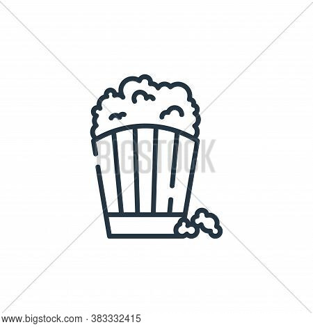 popcorn icon isolated on white background from party and celebration collection. popcorn icon trendy