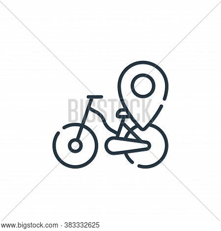 bicycle icon isolated on white background from location collection. bicycle icon trendy and modern b