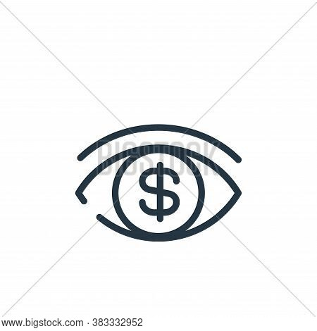 vision icon isolated on white background from finance and business collection. vision icon trendy an