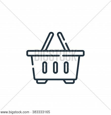 shopping basket icon isolated on white background from supermarket collection. shopping basket icon