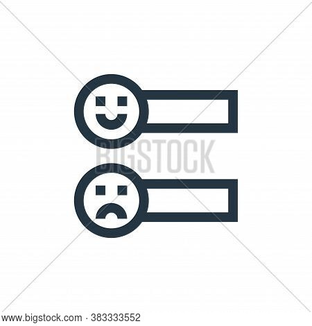 sliders icon isolated on white background from customer reviews collection. sliders icon trendy and