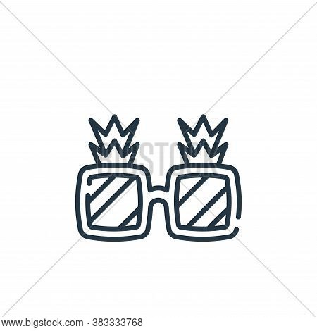 sunglasses icon isolated on white background from party and celebration collection. sunglasses icon