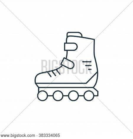 roller skates icon isolated on white background from kids collection. roller skates icon trendy and