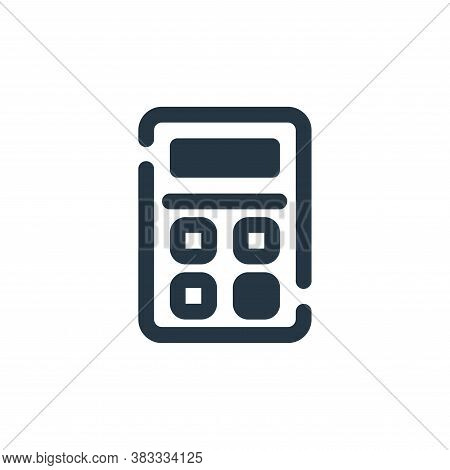 calculator icon isolated on white background from economy collection. calculator icon trendy and mod