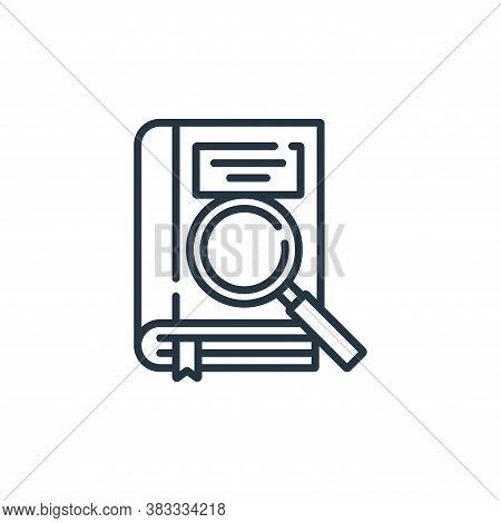 searching icon isolated on white background from education collection. searching icon trendy and mod