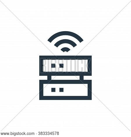 data storage icon isolated on white background from wireless technology collection. data storage ico