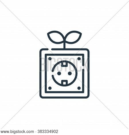 socket icon isolated on white background from sustainable energy collection. socket icon trendy and