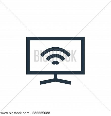 smart tv icon isolated on white background from wireless technology collection. smart tv icon trendy