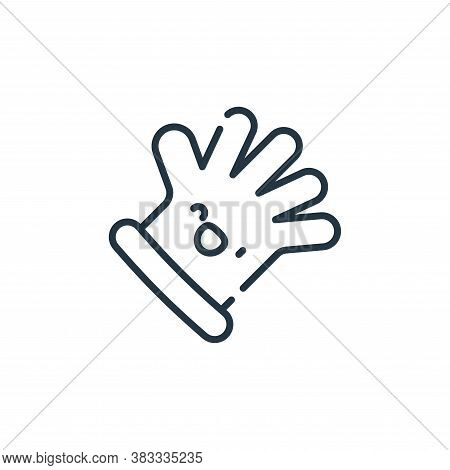 glove icon isolated on white background from barber shop collection. glove icon trendy and modern gl