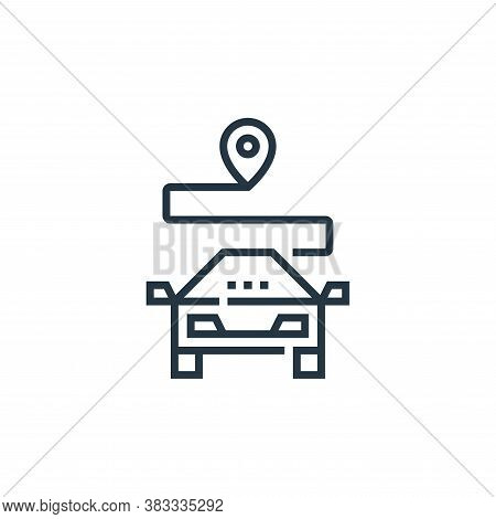 gps icon isolated on white background from driving school collection. gps icon trendy and modern gps