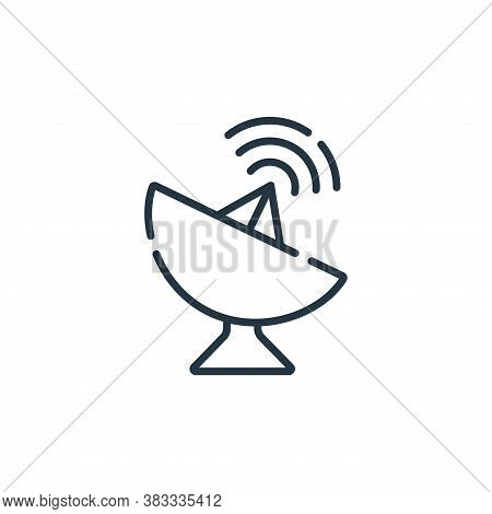 satellite dish icon isolated on white background from location collection. satellite dish icon trend