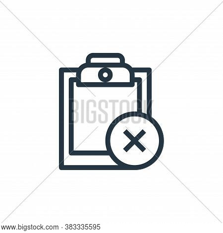 document icon isolated on white background from online business communication collection. document i