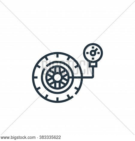 wheel pressure icon isolated on white background from driving school collection. wheel pressure icon
