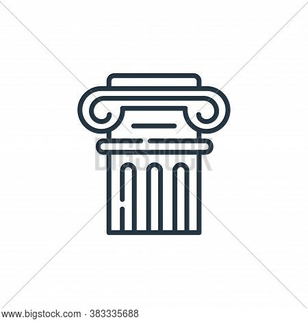 column icon isolated on white background from museum collection. column icon trendy and modern colum