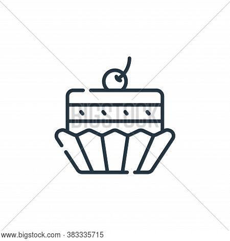 cupcake icon isolated on white background from sweets and candies collection. cupcake icon trendy an