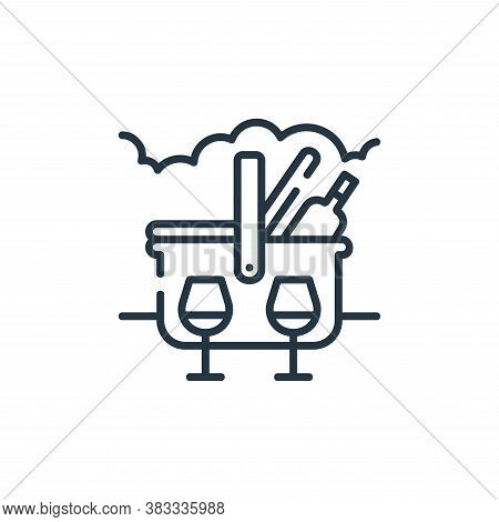 picnic icon isolated on white background from party and celebration collection. picnic icon trendy a