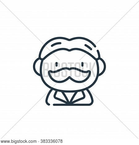 man icon isolated on white background from barber shop collection. man icon trendy and modern man sy
