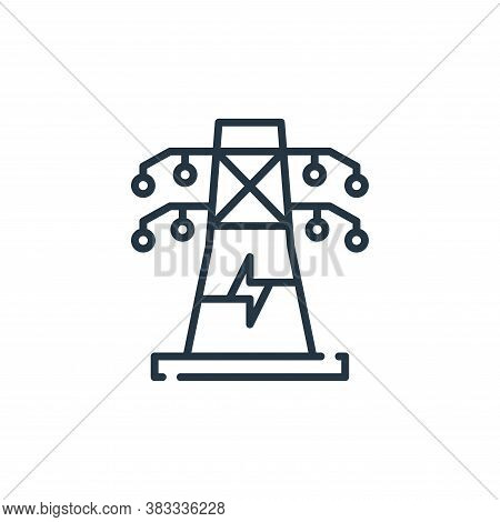 electric tower icon isolated on white background from sustainable energy collection. electric tower