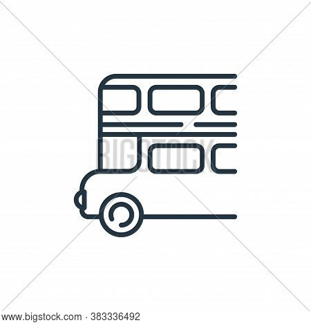 double decker bus icon isolated on white background from public transportation collection. double de