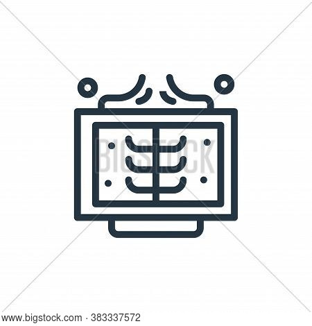 x ray icon isolated on white background from medical collection. x ray icon trendy and modern x ray
