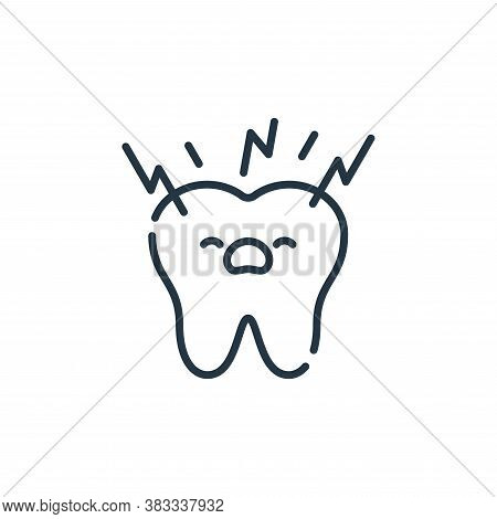 toothache icon isolated on white background from dentist collection. toothache icon trendy and moder