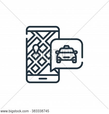 taxi icon isolated on white background from public transportation collection. taxi icon trendy and m