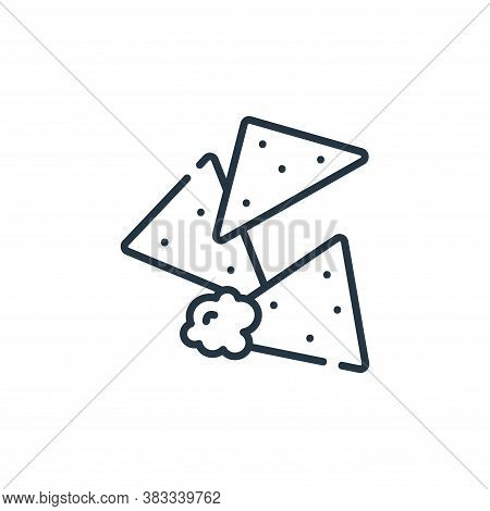 nachos icon isolated on white background from party and celebration collection. nachos icon trendy a