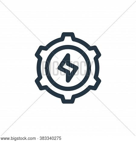 settings icon isolated on white background from sustainable energy collection. settings icon trendy