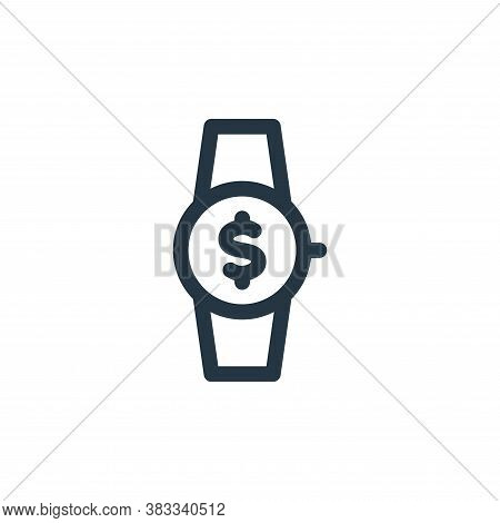 wristwatch icon isolated on white background from investment collection. wristwatch icon trendy and