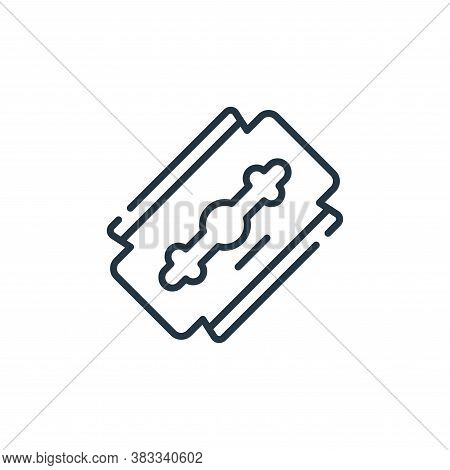 razor icon isolated on white background from barber shop collection. razor icon trendy and modern ra